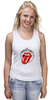 "Майка (Женская) ""The rolling stones"" - рок-н-ролл, the rolling stones, роллинг стоунз, stones"