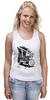 """Майка (Женская) """"Мотоциклы"""" - white, black, motorcycle, bike, harley"""
