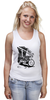 "Майка классическая ""Мотоциклы"" - white, black, motorcycle, bike, harley"