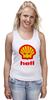 """Майка (Женская) """"Hell (Ад)"""" - hell, shell, oil, моторное масло"""