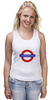 "Майка (Женская) ""Underground"" - арт, стиль, рисунок, london, метро, uk, metro, метрополитен, подземка"