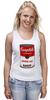 """Майка (Женская) """"Campbell's Soup (Энди Уорхол)"""" - поп арт, энди уорхол, pop art, andy warhol"""