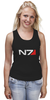 """Майка (Женская) """"N7 (Mass Effect)"""" - mass effect, n7, масс эффект"""