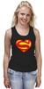 "Майка (Женская) ""Я люблю Супермена"" - супермен, комиксы, superman, супергерои"