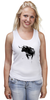 """Майка (Женская) """"Черный Бык"""" - животные, black, бык, bull"""