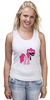 "Майка (Женская) ""My Little Pony - Пинки Пай (Pinkie Pie)"" - pony, mlp, пони, пинки пай"