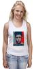 """Майка (Женская) """"Tyler Durden (Fight Club)"""" - pop art, бойцовский клуб, brad pitt, брэд питт, fight club"""