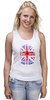 "Майка (Женская) ""Skull Art"" - skull, череп, uk, british flag, британский флаг"