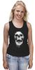"""Майка (Женская) """"Череп"""" - skull, череп, кости"""