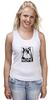 """Майка (Женская) """"Сердитый котик / Grumpy Cat (Штамп)"""" - кот, котэ, grumpy, grumpy cat, сердитый кот, унылый кот, грампи, грумпи"""