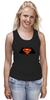 "Майка (Женская) ""Superman x Batman"" - супермен, batman, superman, бэтман"
