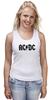 """Майка (Женская) """"AC/DC """" - heavy metal, hard rock, ac-dc, хэви метал, эйси диси"""