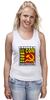 """Майка (Женская) """"Moscow Commie Con"""" - ссср, пародия, коммунизм, серп и молот, comic con"""