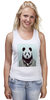 """Майка (Женская) """"Деловая панда"""" - медведь, мишка, панда, panda, крутая"""