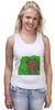 """Майка (Женская) """"Медведь из кустов"""" - медведь, распутница, медведь из кустов, блудница"""