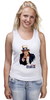 "Майка (Женская) ""Америка"" - америка, usa, американский пирог, uncle sam, дядя сэм"