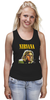 "Майка (Женская) ""Nirvana"" - гранж, nirvana, kurt cobain, курт кобейн, нирвана"