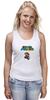 "Майка (Женская) ""Super Mario"" - mario, dendy, марио, mario bros, 8bit"