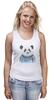 """Майка (Женская) """"Панда"""" - панда, panda, свитер"""