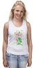"""Майка (Женская) """"Цветы душистый горошек"""" - арт, цветы, весна, акварель, spring, горошек"""