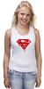 """Майка (Женская) """"Superman Death Of Bloody"""" - кровь, superman, фильм, blood, супермэн"""