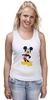 """Майка (Женская) """"Микки Маус"""" - арт, ретро, дисней, mickey mouse"""