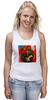 """Майка (Женская) """"Basquiat"""" - граффити, робот, basquiat, баския, жан-мишель баския"""