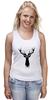 """Майка (Женская) """"Олень"""" - арт, краски, природа, олень, deer"""