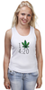 """Майка классическая """"Футболка """"4:20"""""""" - любовь, арт, cannabis, конопля, марихуана, каннабис"""