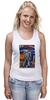 """Майка (Женская) """"Bad Robot"""" - red, винтаж, robot, робот, иллюстрация, blue, vintage, журнал, обложка"""