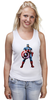 "Майка классическая ""Капитан Америка / Captain America"" - рисунок, капитан америка, captain america, knoart"