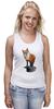 """Майка (Женская) """"Лисица"""" - животные, red, рисунок, fox, лиса, рыжая"""