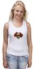 """Майка (Женская) """"Mrs. Skull"""" - череп, цветы, рисунок"""