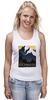 "Майка классическая ""Америка ретро постер"" - арт, ретро, америка, горы, постер"