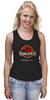 """Майка (Женская) """"Jurassic Park / Парк Юрского Периода"""" - динозавры, иероглифы, парк юрского периода, jurassic park, kinoart"""