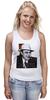 """Майка (Женская) """"Аль Капоне"""" - череп, пистолет, авторские майки, ny, кости, шляпа, пуля, chicago, нью йорк, гангстер"""