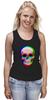 """Майка (Женская) """"Череп 3D"""" - skull, череп, абстракция, 3d"""
