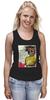 "Майка (Женская) ""Jean-Michel Basquiat"" - граффити, корона, basquiat, баския, жан-мишель баския"