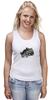 "Майка (Женская) ""гепард"" - хищник, animal, predator, cheetah, feline"