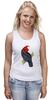 """Майка (Женская) """"Попугайчик"""" - арт, дизайн, птицы, природа, попугай"""