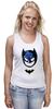 """Майка (Женская) """"Маска Бэтмена"""" - batman, бэтмен"""