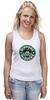 "Майка (Женская) ""Scrooge McBucks (Starbucks)"" - пародия, coffee, старбакс, скрудж макдак"
