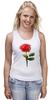 """Майка классическая """"С 8 марта!"""" - цветы, rose, роза, акварель, tseart"""