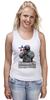 """Майка (Женская) """"Вежливость города берет!"""" - крым, вежливые люди, патриотическкие футболки"""