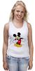 """Майка (Женская) """"Микки Маус"""" - арт, mickey mouse"""
