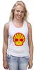 """Майка (Женская) """"Shell Skull"""" - skull, череп, прикол, супер, стиль, логотип, shell"""