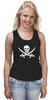 """Майка (Женская) """"Веселый Роджер."""" - череп, jolly roger, пират, веселый роджер, pirates, пираты карибского моря, пиратский флаг"""