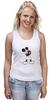 """Майка классическая """"Mickey Mouse Bloody Eyes On White"""" - боль, смех, юмор, приколы, глаз, мультики, глаза, mouse, микки, анимация"""