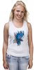 """Майка (Женская) """"ART ZOO"""" - birds, blue, синие птицы"""