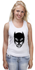 "Майка (Женская) ""Доктор Хаус в маске Бэтмена"" - house, batman, бэтмен, доктор хаус"